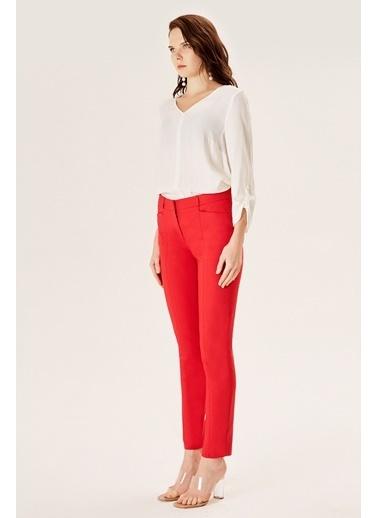 NaraMaxx Düz Kesim Klasik Pantolon Kırmızı